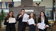FBLA students show their awards